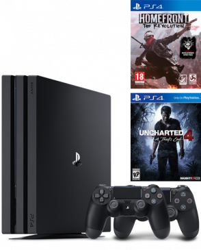 Playstation 4 Pro 1Tb + доп.джойстик + Uncharted 4 + Homefront