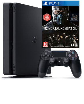 PlayStation 4 Slim 500GB Black (CUH-2116A) + игра Mortal Kombat XL